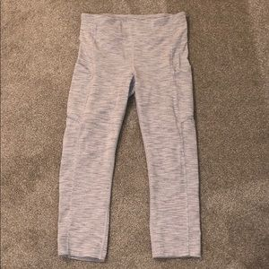 Lululemon Striped Cropped Pants with Pockets